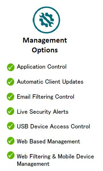 G DATA management feature